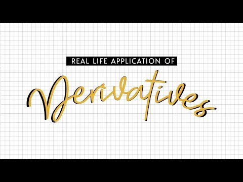 Real Life Application of Derivatives