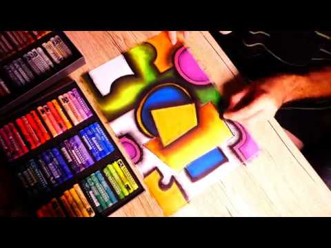 Very Easy Contemporary Cubism Abstract Painting In Oil Soft Pastel | Shading & Mixing With Fingers