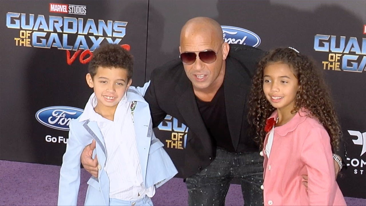 "Vin Diesel with Vincent and Hania ""Guardians of the Galaxy ..."