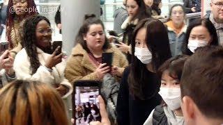 Hani 하니 [EXID 이엑스아이디] arriving at the Paris airport CDG in F…