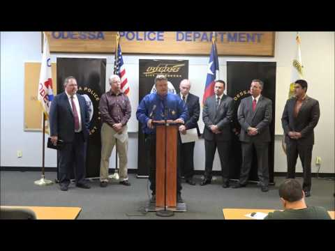 OPD Hosts Joint News Conference Focusing on Crime Statistics in Odessa - 2/8/2017
