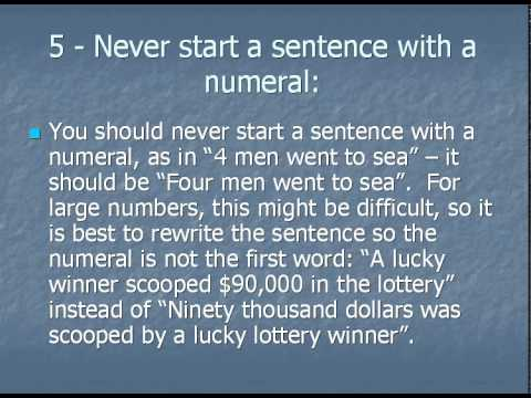 rules for writing numbers in essay