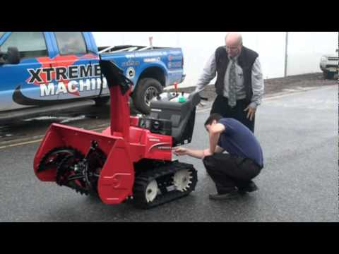 honda hsmic hybrid snowblower  xtreme machines   jersey youtube