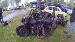 Old Soviet Dnepr Motorcycle With Mad Max Modifications