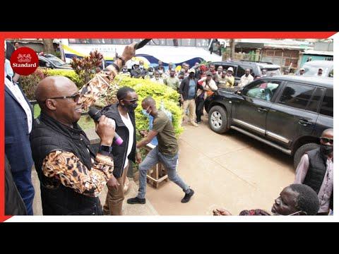 Jimi Wanjigi stoned as chaos rock his Migori county meeting