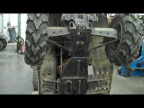 How To Fit A Snow Plow To A Polaris 4 Wheeler Youtube