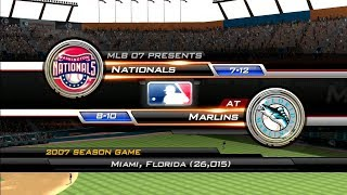 MLB 07: The Show (Florida Marlins Season) Game #19 - WSH @ FLA
