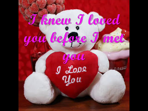 I knew I love you before I met you lyrics by Savage garden