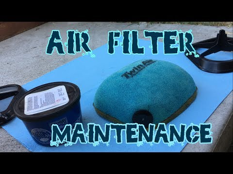 How to clean and instal an air filter on a dirt bike