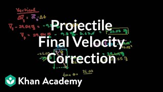 Correction to total final velocity for projectile | Physics | Khan Academy