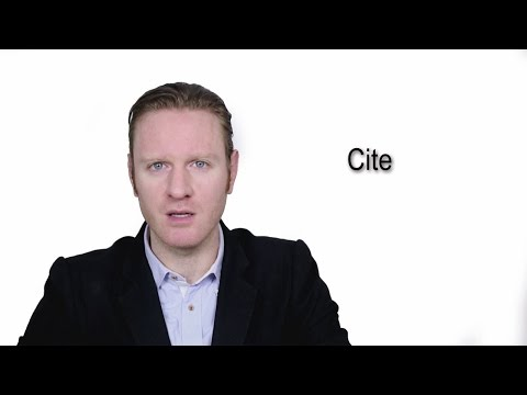Cite - Meaning | Pronunciation || Word Wor(l)d - Audio Video Dictionary