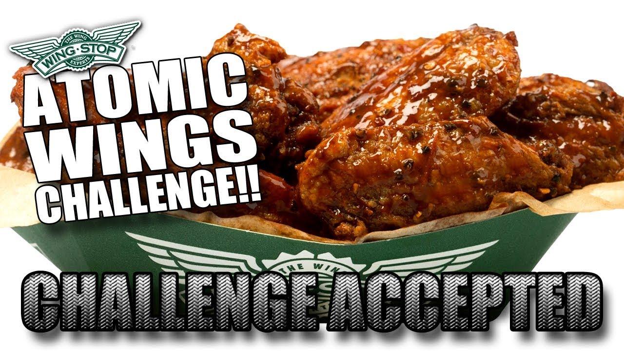 Atomic Wings Challenge Wingstop Youtube