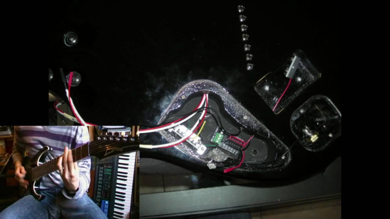 ibanez rga 7 modified with emg 707 pickups by brindavoine youtube rh youtube com