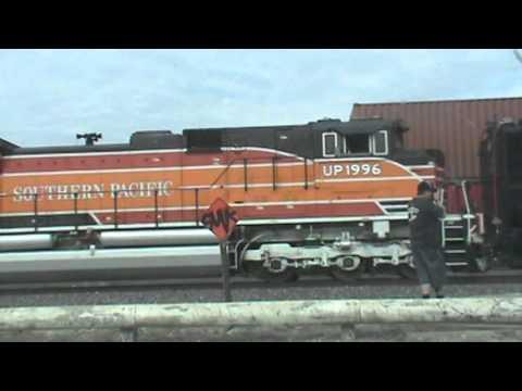 Union Pacific 4-8-8-4 Big Boy steam locomotive #4014 move South Fontana 1/26/14
