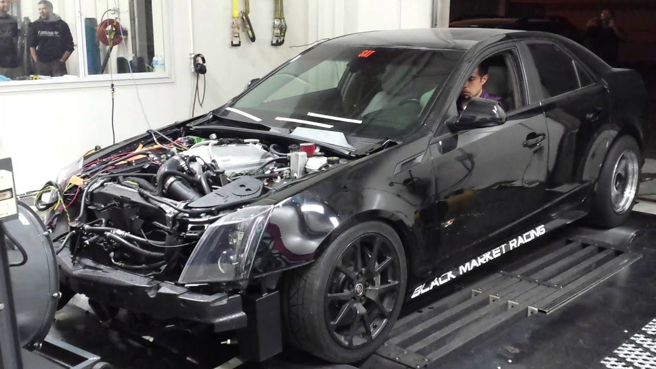 Twin Turbo Cts V Dyno Run Youtube