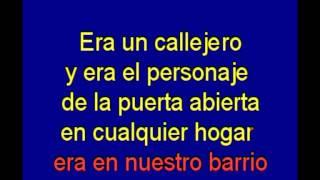 Callejero - Alberto Cortez - karaoke Tony Ginzo