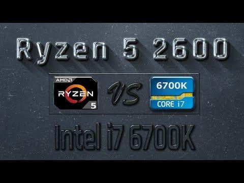 Ryzen 5 2600 Vs I7 6700K Benchmarks | Gaming Tests Review & Comparison