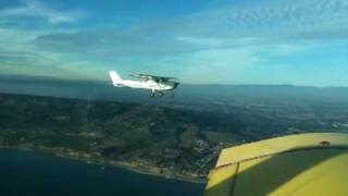 Cessna150 / Grumman AA1 Formation Flight over Long Beach Practice Area