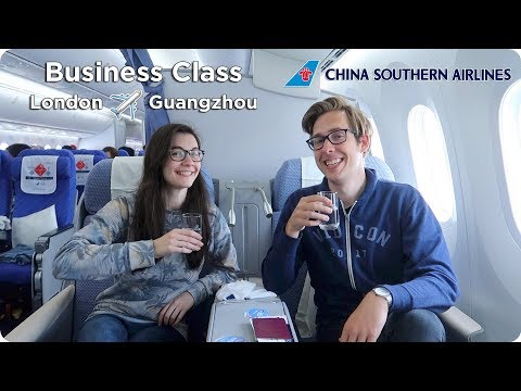 BUSINESS CLASS with China Southern London to Guangzhou | Evan Edinger Travel
