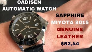 This Handsome Automatic Watch Is Only $52!!! - Cadisen Review