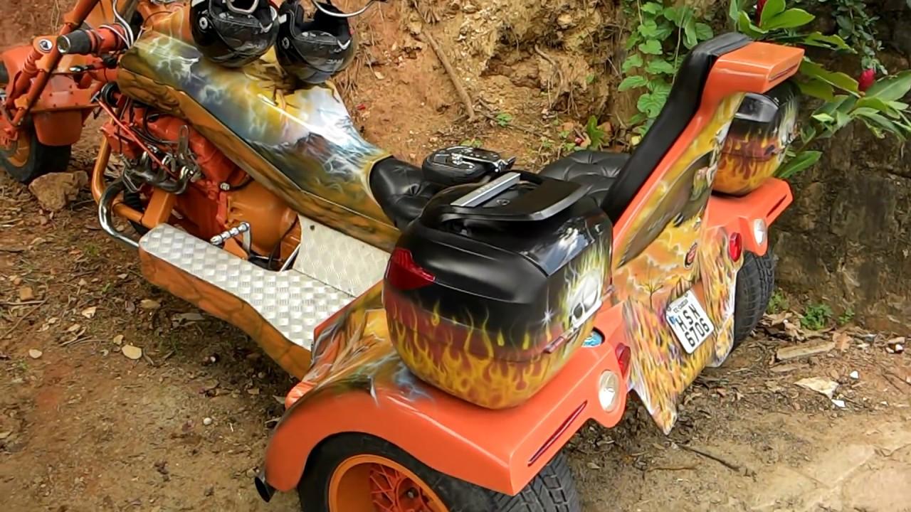 Olha S Esse Triciclo Com Motor De F250 Youtube