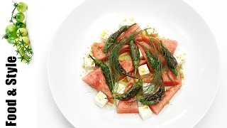 Watermelon Salad With Feta And Pan-roasted Shishito Peppers