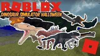 Roblox Dinosaur Simulator Halloween - Part 1.1 Update! Encountering Some KOSers!