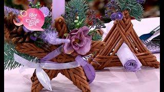 Как сделать новогодний декор для стола своими руками?