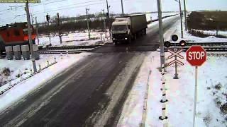 Жесткая авария на ж/д переезде возле Петропавловска