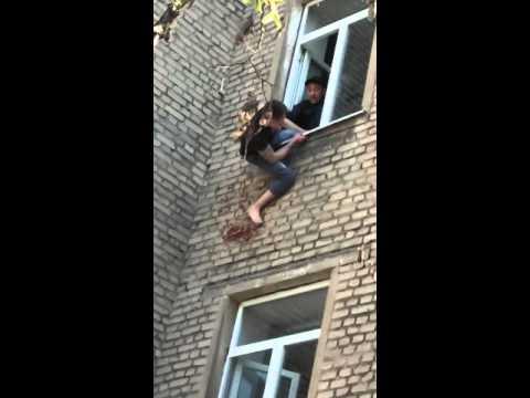 В Липецке поймали человека-паука