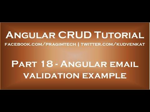 Angular Email Validation Example