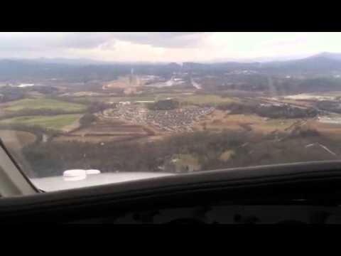 Cessna 340 approach and landing KAVL