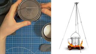 Обзор по существу - Набор титановой посуды Tomshoo