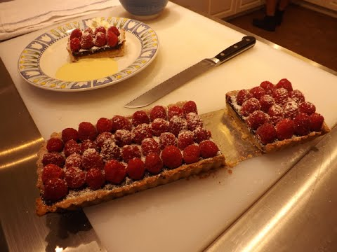 Lemon Chocolate Raspberry Tart