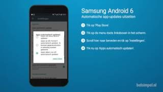 Tips & Tricks - Samsung smartphone: App-updates uitschakelen (Android 6)