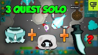 3 QUEST SOLO // DRAGON GEAR QUEST // WINTER PEASANT'S TUNIC QUEST (Starve.io Tutorial) #15