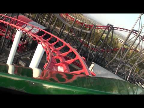 Viper Front Row POV Six Flags Magic Mountain