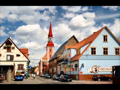 Pärnu, beautiful town in Estonia, life, buildings, green, hi
