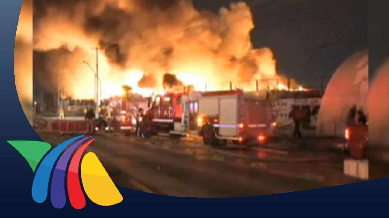 Voraz incendio en recicladora de Ciudad Jurez  YouTube