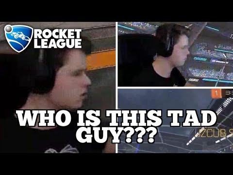 WTF Rocket League Plays: WHO IS THIS TAD GUY??? thumbnail