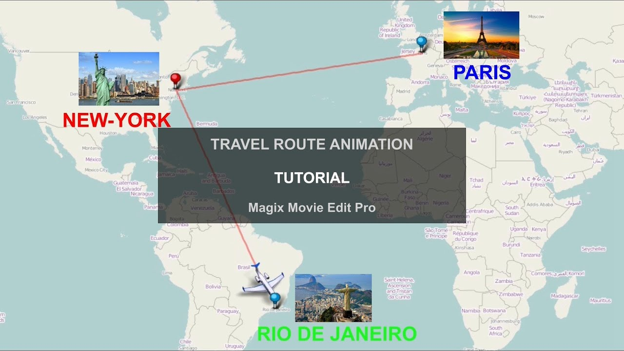 Tutorial How To Create A Travel Route Animation Magix YouTube
