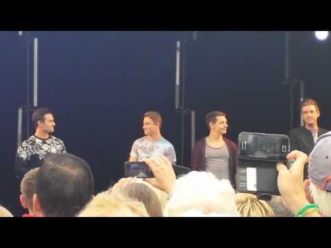 Collabro Performing Let It Go At Rhyl On 24th August 2014