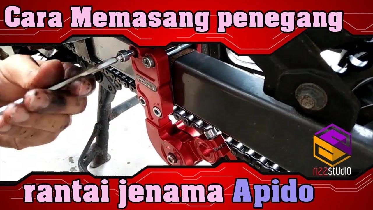 🛑Cara Memasang Penegang Rantai Pada Motorsikal   Motor LC