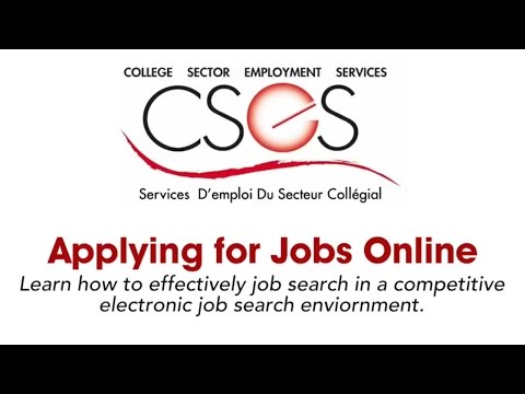 Applying for Jobs Online