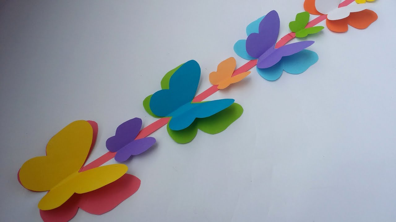 Diy Wall Decoration Idea How To Make Beautiful Paper Butterfly
