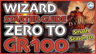 Season 20 Diablo 3 Wizard Starter Guide: Level 1 to GR100 (Vyrs, Hydra & LOD) Patch 2.6.8