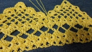 Repeat youtube video Orilla tejida en Picos parte 1 de 2 Crochet