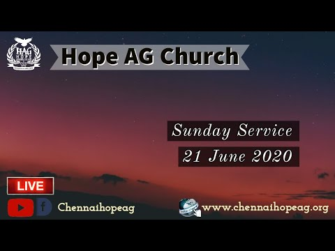 Hope AG Church Sunday Online Service 21 June 2020