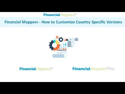 Financial Mappers   How to customize country specific versions
