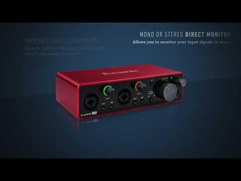 Focusrite Scarlett 2i2 3rd Generation USB-C Audio Interface